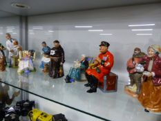 A COLLECTION OF DOULTON FIGURINES.