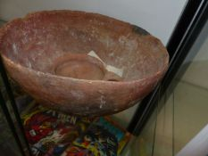 TWO EARLY POTTERY VESSELS.