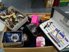 A LARGE SELECTION OF WRISTWATCHES AND POCKET WATCHES.