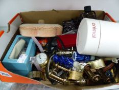 A BOX OF WATCHES,ETC.