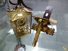 AN AUG,SCHATZ & SOHNE GERMANY 8 DAY CLOCK AND WALL BRACKET TO INCLUDE KEY.