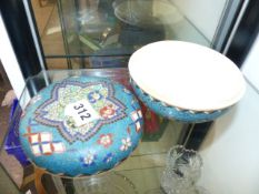 A JAPANESE LIDDED SHALLOW JAR.