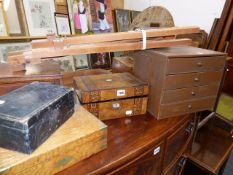 VARIOUS VICTORIAN AND OTHER JEWELLERY BOXES,ETC.