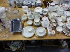 A NORITAKE PART TEASET AND OTHER CHINAWARES, VARIOUS GLASS AND CUTLERY.