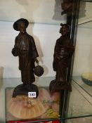 A PAIR OF ORIENTAL STYLE SPELTER FIGURES.