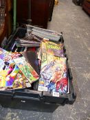A LARGE COLLECTION OF MARVEL AND OTHER COMICS, COMIC BOOKS,ETC.