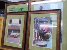 A GROUP OF FRAMED INDIAN SCENE PHOTOGRAPHS.