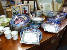 A QTY OF ELVIS LIMITED EDITION COLLECTOR'S PLATES, PARAGON COFFEE WARES,ETC.