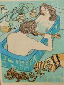 EDWINA SANDYS. (1938-****) ARR. COUPLES, PENCIL SIGNED LIMITED EDITION COLOUR PRINT. 76 x 56cms.