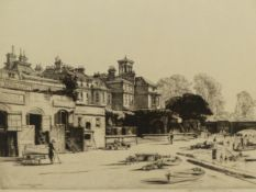 NATHANIEL SPARKS. (1880-1956) RICHMOND BRIDGE, PENCIL SIGNED ETCHING WITH GALLERY LABEL VERSO. 30