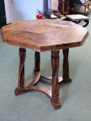 AN INTERESTING ARTS AND CRAFTS STYLE ELM CENTER TABLE AFTER A DESIGN BY ROBERT LORIMER THE OCTAGO