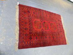 AN AFGHAN BOKHARA RUG 204 x 133cms.