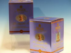 WHISKY. BELLS ROYALTY 1900-2000, 100 YEARS QUEEN MOTHER EDITION, 2 x BOTTLES, BOXED.