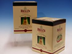 WHISKY. BELLS CHRISTMAS 1998 EDITION 2 x BOTTLES, BOXED. (2)