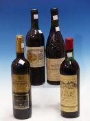 WINE. CHATEAU QUINSAC 1966 1 x BOTTLE, CHATEAU NEUF DE PAPE 1998 1 x BOTTLE, CHATEAU DE CHAMBERT