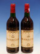WINE. BARON PHILLIPE DE ROTHSCHILD MOUTON CADET 1967 2 x BOTTLES. (2)