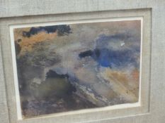 ATTRIBUTED TO J.S.COTMAN. (1782-1842) CLOUD STUDY, WATERCOLOUR. 9.5 x 14cms.