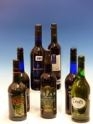 SHERRY. 7 BOTTLES TO INCLUDE CROFTS, Q.L, HARVEY'S AND BARBADILLO. (7)
