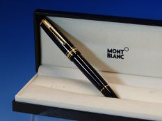 A MONT BLANC MEISTERSTUCK FOUNTAIN PEN WITH A 14K GOLD 4810 NIB COMPLETE WITH FITTED CASE.