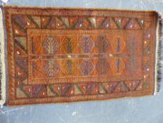 A TRIBAL BELOUCH MAT 124 x 72cms.