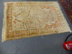 AN ORIENTAL PRAYER RUG OF PERSIAN DESIGN 180 x 118.5cms.