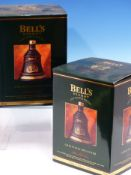 WHISKY. BELLS CHRISTMAS 1993 EDITION 2 x BOTTLES, BOXED. (2)