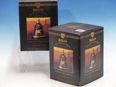 WHISKY. BELLS YEAR OF THE MONKEY 1992 EDITION 2 x BOTTLES, BOXED. (2)