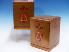 WHISKY. BELLS CHRISTMAS 1999 EDITION 2 x BOTTLES, BOXED. (2)