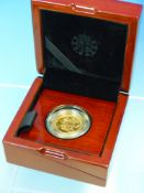 A 22ct GOLD FULL SOVEREIGN COIN. THE 200th ANNIVERSARY OF THE SOVEREIGN, BRILLIANT UN CIRCULATED