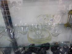 A SCHMITT & GEAN GLASS TEA SERVICE.