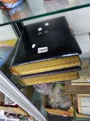 TWO LEATHER BOUND PHOTOGRAPH ALBUMS OF THE WOLF AND WELTI FAMILIES