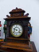 A VICTORIAN MANTLE CLOCK.