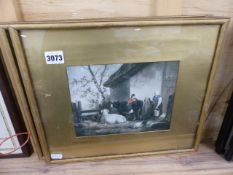 TWO PHOTO PRINTS AFTER GEORGE MOORLAND.