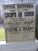 A VINTAGE PAXTON & HOLIDAY AUCTION POSTER.