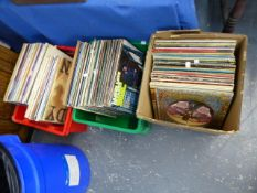 A LARGE COLLECTION OF RECORD ALBUMS.