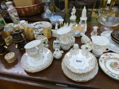 A QTY OF CRESTEDWARE AND DECORATIVE CHINA.