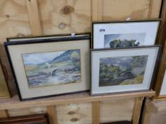 VARIOUS WATERCOLOURS AND PRINTS.