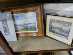 A GROUP OF VARIOUS PAINTINGS AND PRINTS.