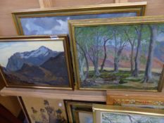 TWO OIL PAINTINGS BY EDITH VALE AND ONE OTHER.