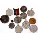Lot 583 - Quantity of eleven mostly civilian Royal commemorative medallions including Queen Victoria, Edward