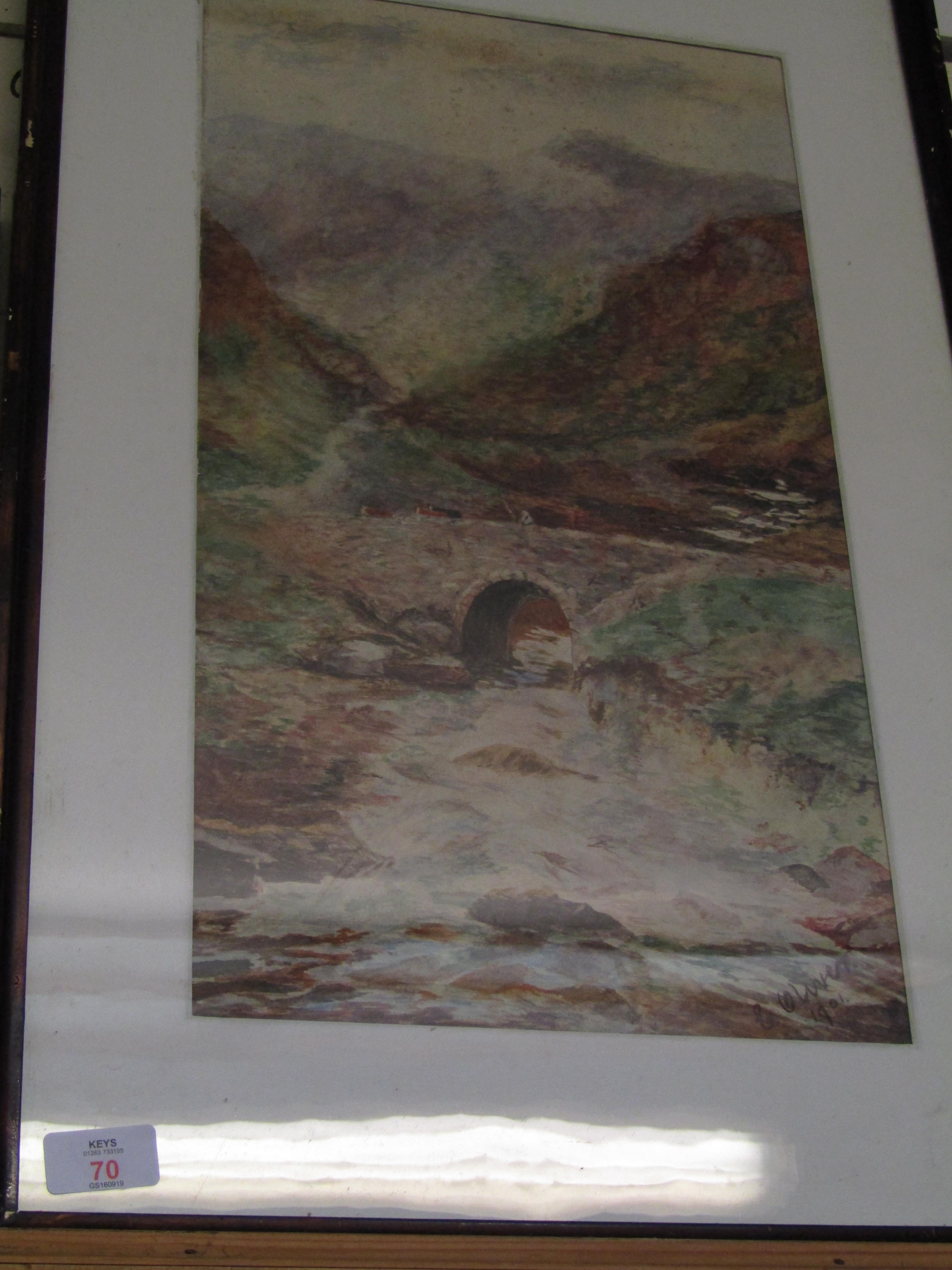 Lot 70 - FRAMED WATER COLOUR BY E OLIVER