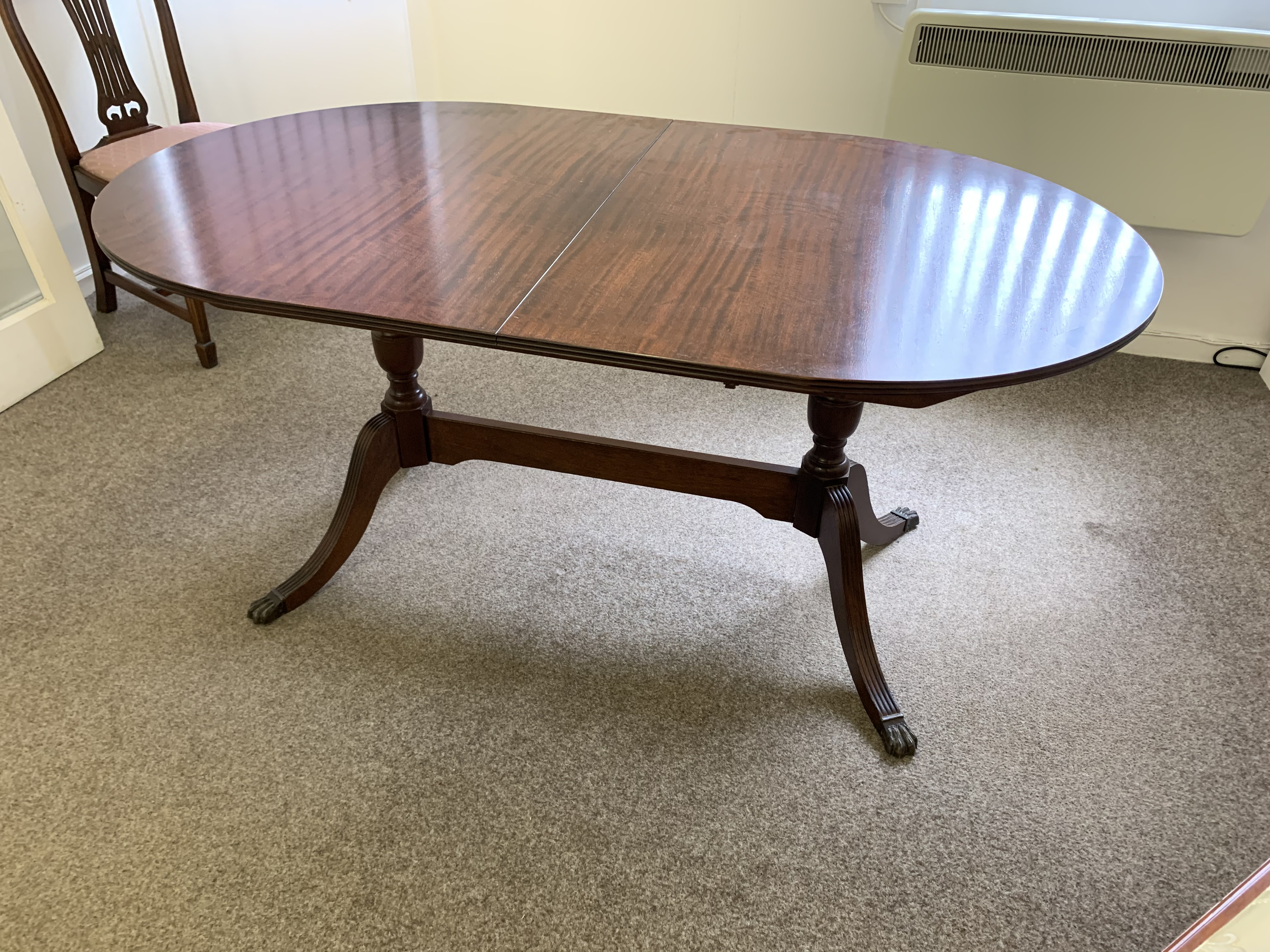 Lot 63 - Oval reproduction Dining Table.