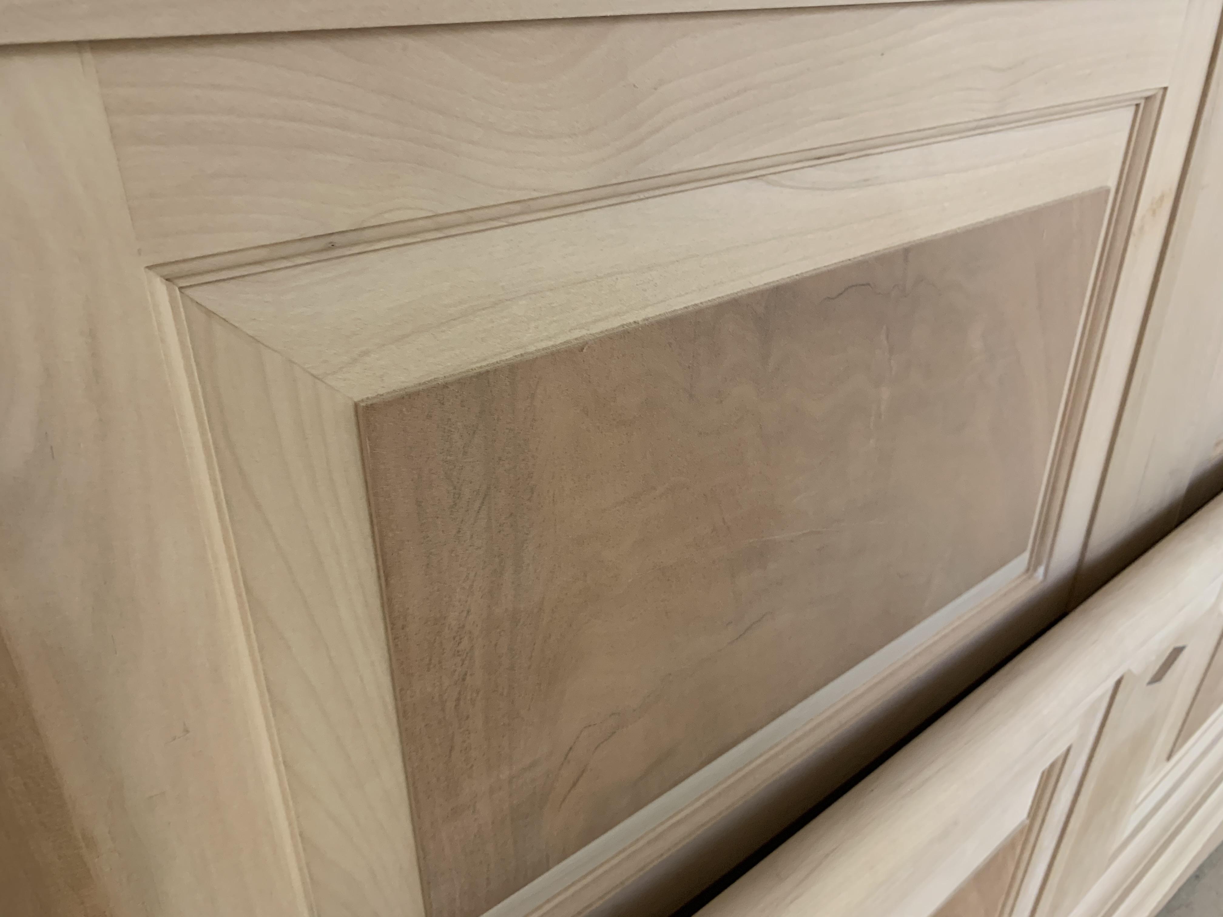 Lot 8 - 5' Cherry Finish Bed, from the Trafalgar range, RRP £4758 (requires finishing/polishing). Model no
