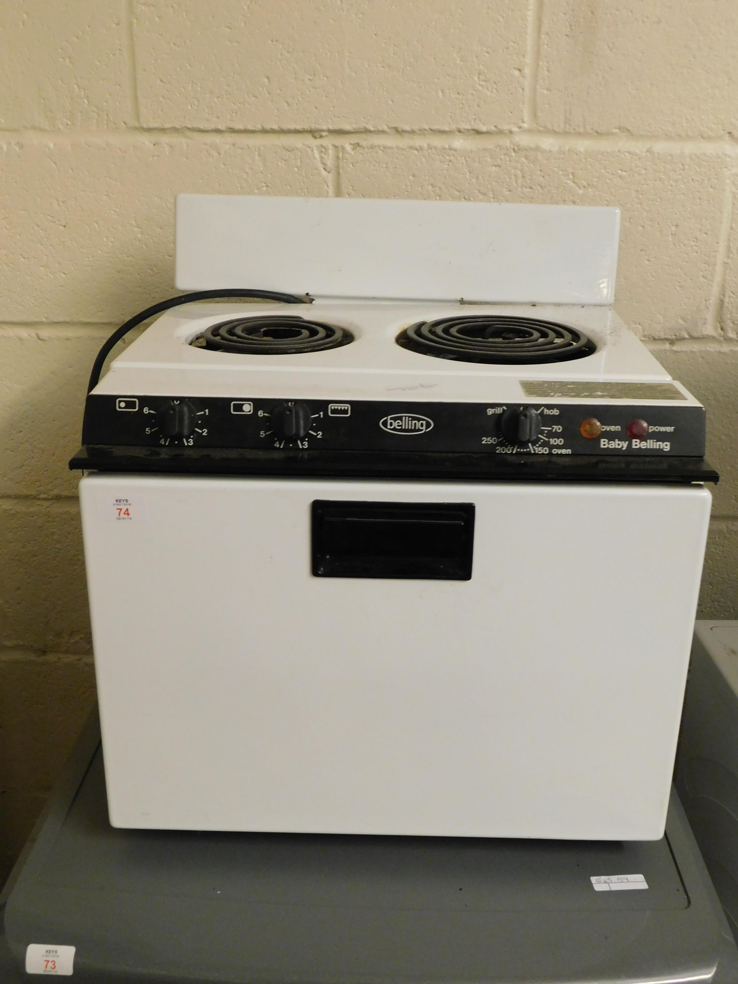 Lot 74 - BABY BELLING TABLE TOP OVEN AND HOB