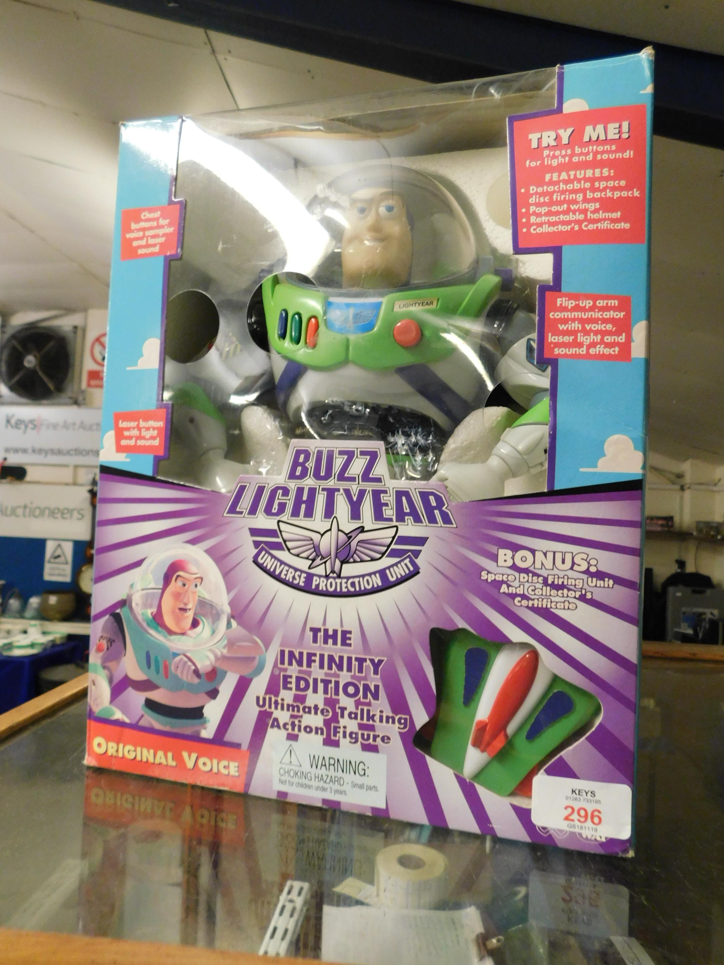 Lot 296 - BOXED BUZZ LIGHTYEAR TOY