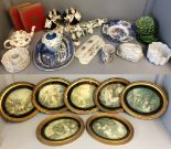 Lot 26 - General household clearance: general china, pictures etc
