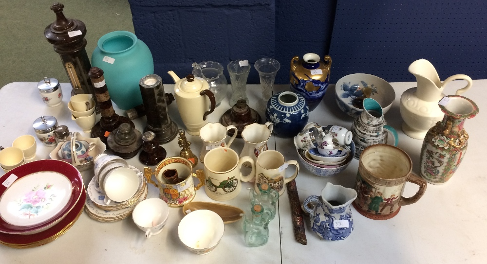 Lot 22 - General household clearance: qty of china & glass
