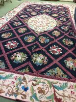 Lot 713 - Large hand woven needlepoint of Aubusson design 5.94 X 4.04m