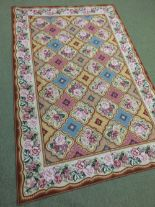Lot 716 - Finely hand woven needlepoint carpet 2.84 X 1.84m