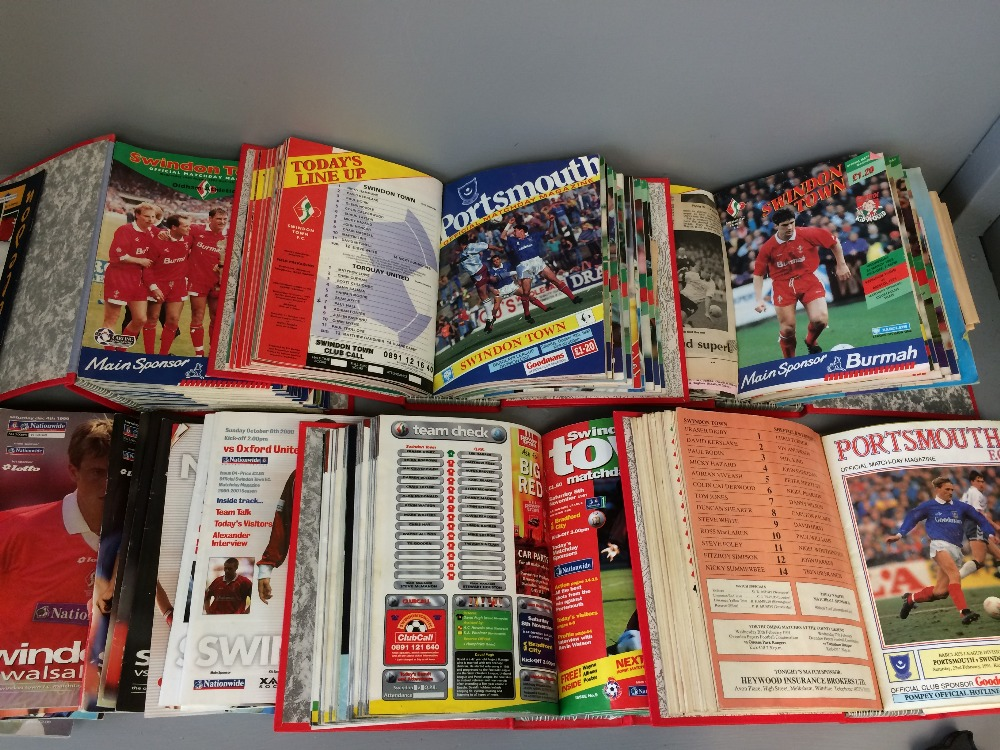 Lot 9 - Qty of Swindon Town Football Club programmes & VHS tapes